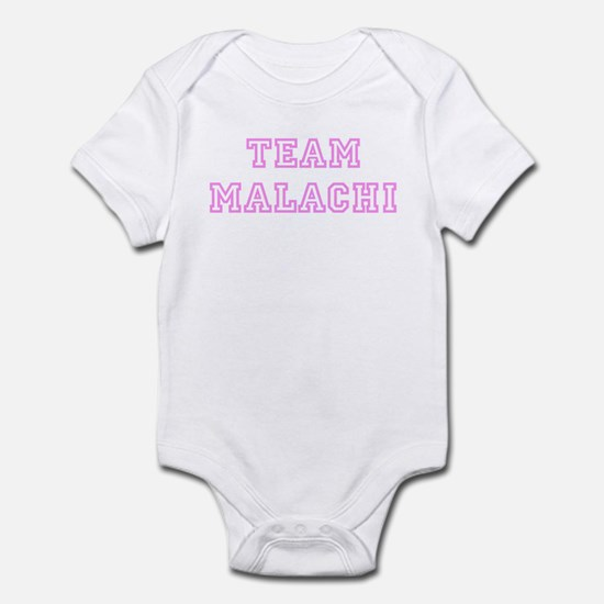 Pink team Malachi Infant Bodysuit