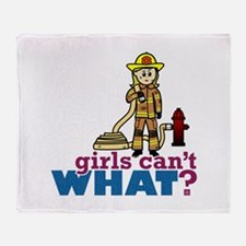 Firefighter Girls Throw Blanket