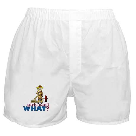 Firefighter Girls Boxer Shorts