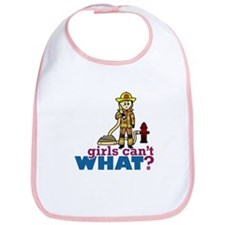 Firefighter Girls Bib