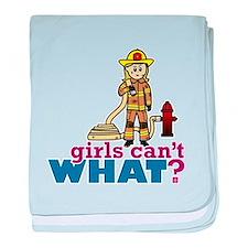 Firefighter Girls baby blanket