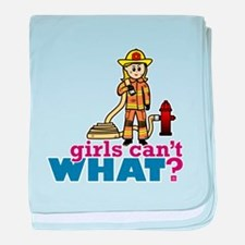 Firefighter Girls baby blanket
