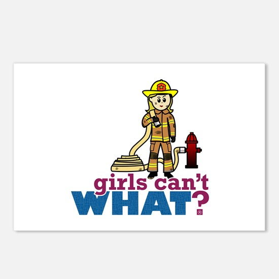 Firefighter Girls Postcards (Package of 8)