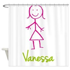 Vanessa-cute-stick-girl.png Shower Curtain