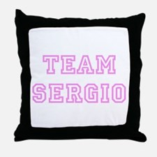 Pink team Sergio Throw Pillow