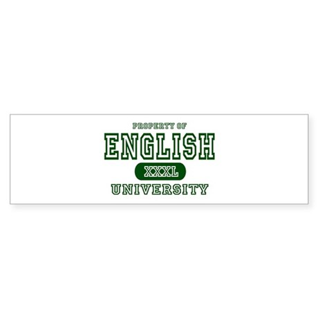 English University Bumper Sticker