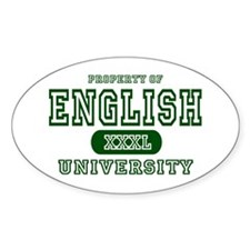 English University Oval Decal