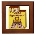Utah State Patrol Polygamy Playground Framed Tile