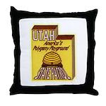 Utah State Patrol Polygamy Playground Throw Pillow