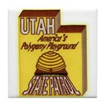 Utah State Patrol Polygamy Playground Tile Coaster