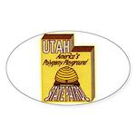 Utah State Patrol Polygamy Playground Sticker (Ova
