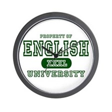 English University Wall Clock