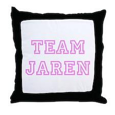 Pink team Jaren Throw Pillow