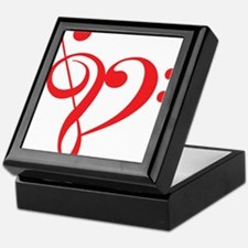 I love music, red heart with music notes Keepsake