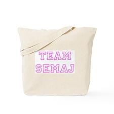 Pink team Semaj Tote Bag