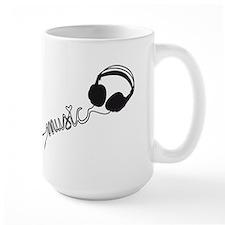 headphone silhouette with music Mug