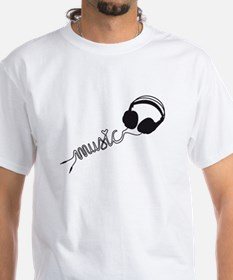 headphone silhouette with music Shirt
