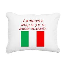 Italian Proverb Good Wife Husband Rectangular Canv