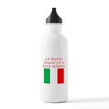 Italian Proverb Good Wife Husband Water Bottle