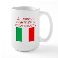 Italian Proverb Good Wife Husband Mug