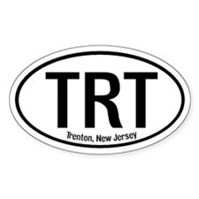 Trenton, New Jersey Oval Decal