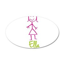 Ella-cute-stick-girl.png Wall Decal