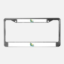 Groovy License Plate Frame