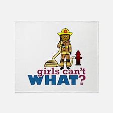 Firefighter Women Throw Blanket