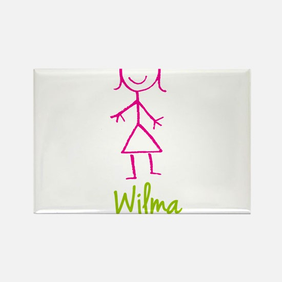 Wilma-cute-stick-girl.png Rectangle Magnet