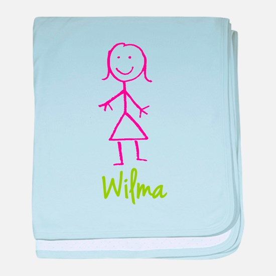 Wilma-cute-stick-girl.png baby blanket