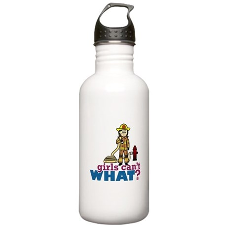Woman Firefighter Stainless Water Bottle 1.0L