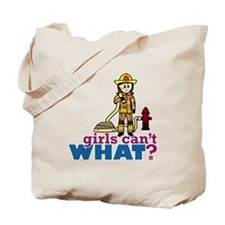 Woman Firefighter Tote Bag
