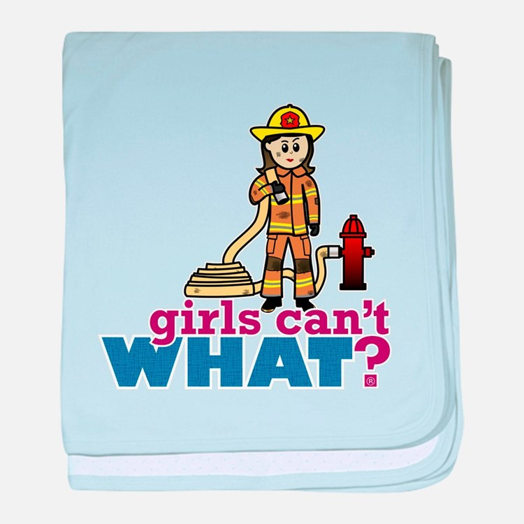 Woman Firefighter baby blanket