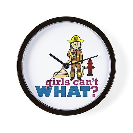 Woman Firefighter Wall Clock