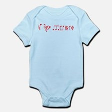 I love music, written with music notes Infant Body