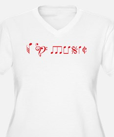 I love music, written with music notes T-Shirt