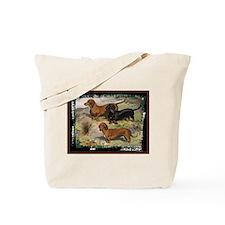 Antique Dachshund Doxie Tote Bag