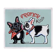 French Kiss Throw Blanket