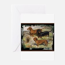 Antique Dachshund Doxie Greeting Cards (Package of