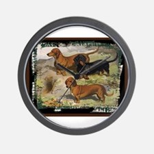 Antique Dachshund Doxie Wall Clock
