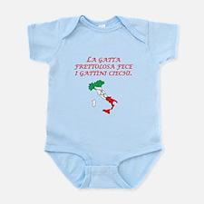 Italian Proverb Hurried Cat Infant Bodysuit