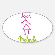 Melinda-cute-stick-girl.png Sticker (Oval)