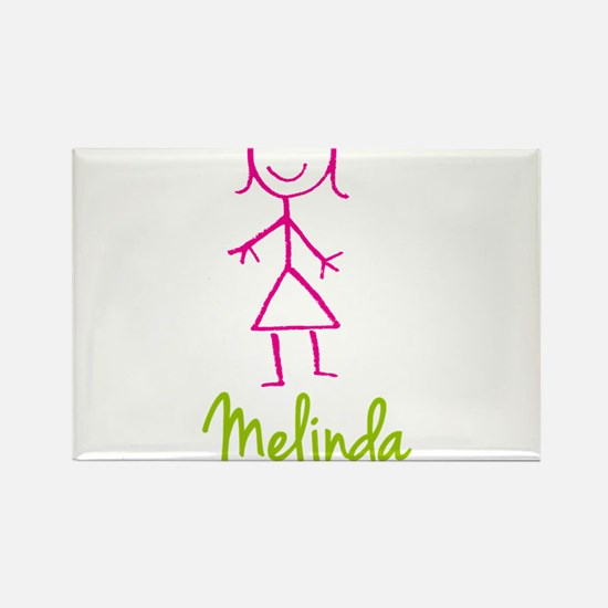 Melinda-cute-stick-girl.png Rectangle Magnet