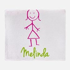 Melinda-cute-stick-girl.png Throw Blanket