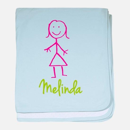 Melinda-cute-stick-girl.png baby blanket