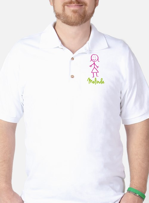 Melinda-cute-stick-girl.png Golf Shirt