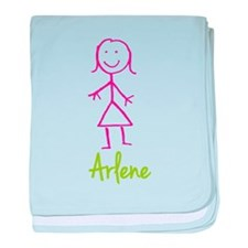 Arlene-cute-stick-girl.png baby blanket
