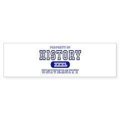 History University Bumper Sticker