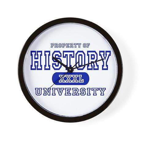 History University Wall Clock