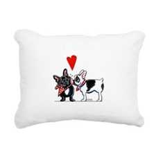 French Kiss Rectangular Canvas Pillow